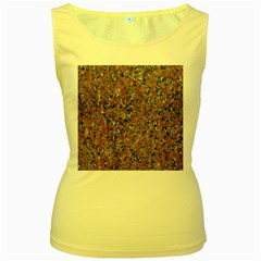 GRANITE RED-BLACK Women s Yellow Tank Tops by trendistuff