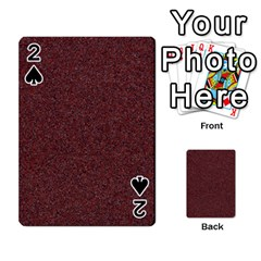 Granite Red 1 Playing Cards 54 Designs  by trendistuff