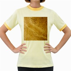 GRANITE BROWN 2 Women s Fitted Ringer T-Shirts by trendistuff