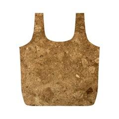Granite Brown 1 Full Print Recycle Bags (m)  by trendistuff