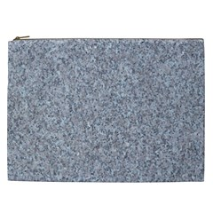 Granite Blue Grey Cosmetic Bag (xxl)  by trendistuff