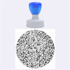 Granite Blue Black 3 Rubber Round Stamps (large)