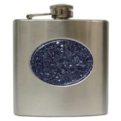 Granite Blue Black 1 Hip Flask (6 Oz) by trendistuff