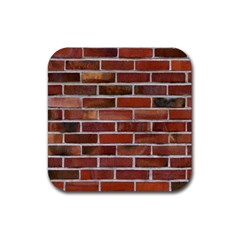 Colorful Brick Wall Rubber Square Coaster (4 Pack)  by trendistuff
