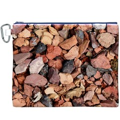 Colored Rocks Canvas Cosmetic Bag (xxxl)  by trendistuff