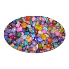 COLORED PEBBLES Oval Magnet by trendistuff