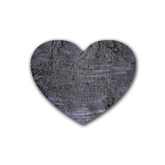 Blue Stucco Texture Heart Coaster (4 Pack)  by trendistuff