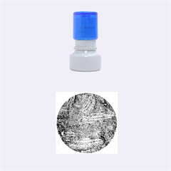 Blue Stucco Texture Rubber Round Stamps (small) by trendistuff