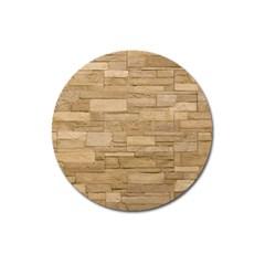 Block Wall 2 Magnet 3  (round) by trendistuff
