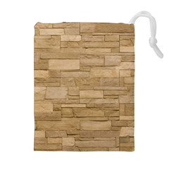 Block Wall 2 Drawstring Pouches (extra Large) by trendistuff
