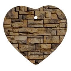 Block Wall 1 Ornament (heart)  by trendistuff