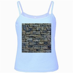 BLOCK WALL 1 Baby Blue Spaghetti Tanks by trendistuff