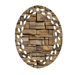 Block Wall 1 Ornament (oval Filigree)  by trendistuff