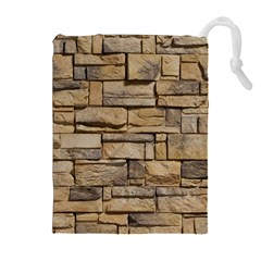 Block Wall 1 Drawstring Pouches (extra Large) by trendistuff