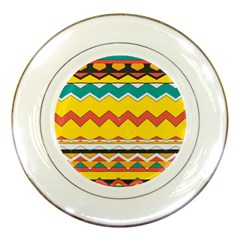 Zig Zag Porcelain Plate by LalyLauraFLM
