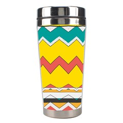 Zig Zag Stainless Steel Travel Tumbler by LalyLauraFLM