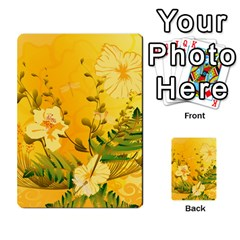 Wonderful Soft Yellow Flowers With Dragonflies Multi-purpose Cards (Rectangle)  by FantasyWorld7