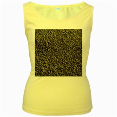 Black Gravel Women s Yellow Tank Tops by trendistuff