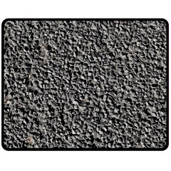 BLACK GRAVEL Double Sided Fleece Blanket (Medium)  by trendistuff