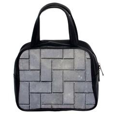 Alternating Grey Brick Classic Handbags (2 Sides) by trendistuff