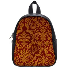 Royal Red And Gold School Bags (small)  by trendistuff