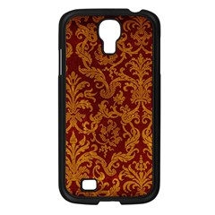 Royal Red And Gold Samsung Galaxy S4 I9500/ I9505 Case (black) by trendistuff