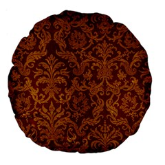 Royal Red And Gold Large 18  Premium Flano Round Cushions by trendistuff