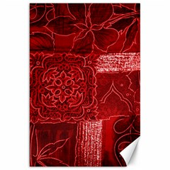 Red Patchwork Canvas 20  X 30   by trendistuff