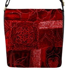 Red Patchwork Flap Messenger Bag (s) by trendistuff