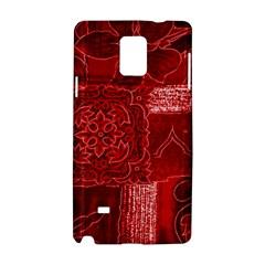 Red Patchwork Samsung Galaxy Note 4 Hardshell Case by trendistuff