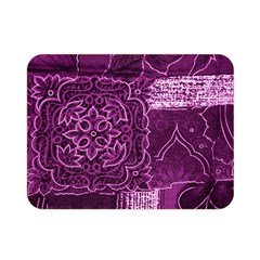Magenta Patchwork Double Sided Flano Blanket (mini)  by trendistuff