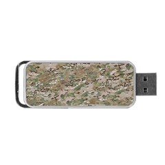 Camo Woodland Faded Portable Usb Flash (one Side) by trendistuff