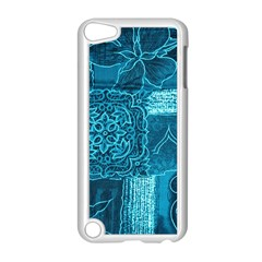 Blue Patchwork Apple Ipod Touch 5 Case (white) by trendistuff
