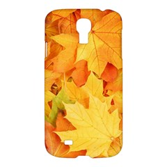 Yellow Maple Leaves Samsung Galaxy S4 I9500/i9505 Hardshell Case by trendistuff