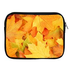 Yellow Maple Leaves Apple Ipad 2/3/4 Zipper Cases by trendistuff