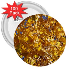 Yellow Leaves 3  Buttons (100 Pack)  by trendistuff