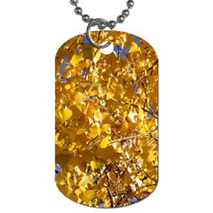 Yellow Leaves Dog Tag (one Side) by trendistuff
