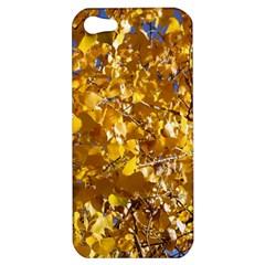 Yellow Leaves Apple Iphone 5 Hardshell Case by trendistuff