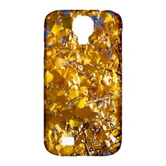 Yellow Leaves Samsung Galaxy S4 Classic Hardshell Case (pc+silicone) by trendistuff
