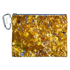 Yellow Leaves Canvas Cosmetic Bag (xxl)  by trendistuff