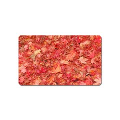 RED MAPLE LEAVES Magnet (Name Card) by trendistuff