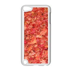 Red Maple Leaves Apple Ipod Touch 5 Case (white) by trendistuff