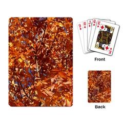 Orange Leaves Playing Card by trendistuff