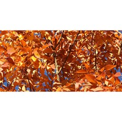 Orange Leaves You Are Invited 3d Greeting Card (8x4)