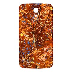 Orange Leaves Samsung Galaxy Mega I9200 Hardshell Back Case by trendistuff
