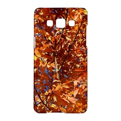 Orange Leaves Samsung Galaxy A5 Hardshell Case  by trendistuff