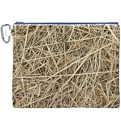 Light Colored Straw Canvas Cosmetic Bag (xxxl)  by trendistuff