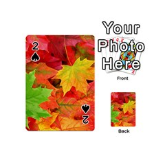 Autumn Leaves 1 Playing Cards 54 (mini)  by trendistuff