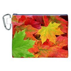 Autumn Leaves 1 Canvas Cosmetic Bag (xxl)  by trendistuff