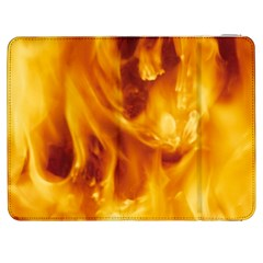Yellow Flames Samsung Galaxy Tab 7  P1000 Flip Case by trendistuff